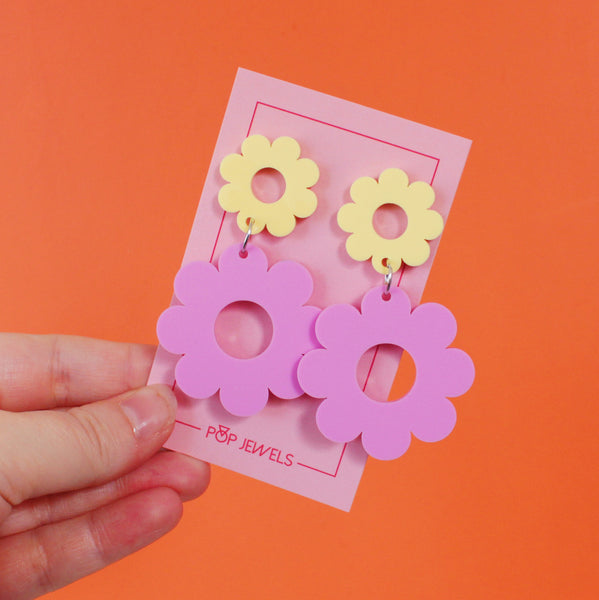 Double Daisy - Matte Pastel Bubblegum/Yellow