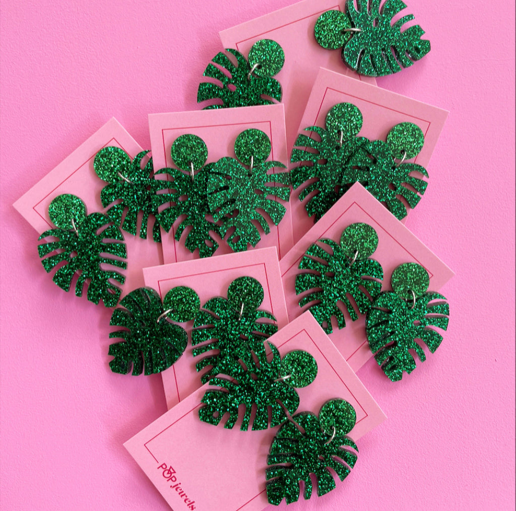 Mini Monstera - Shamrock Glitter