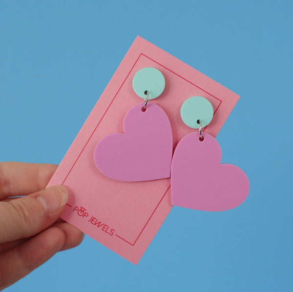 Mini Heartbeats - Matte Pastel Bubblegum/Mint