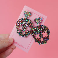 CUTE-O-WEEN - Party Heads - Rainbow Glitter