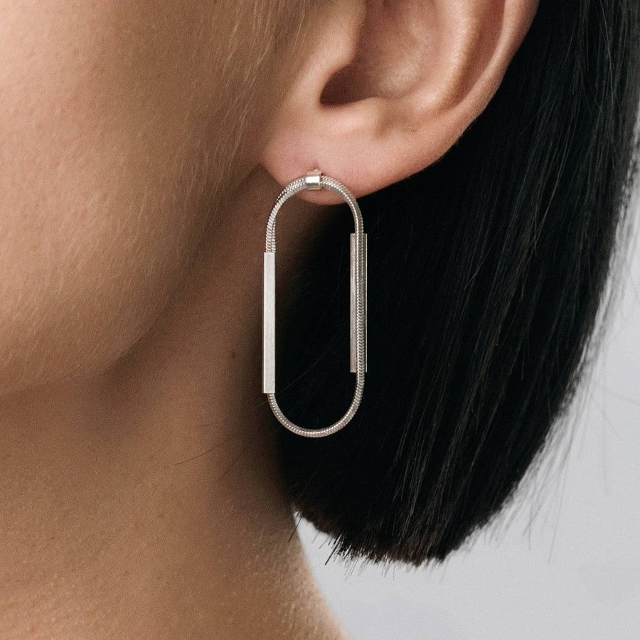 STREAK loop adjustable earrings