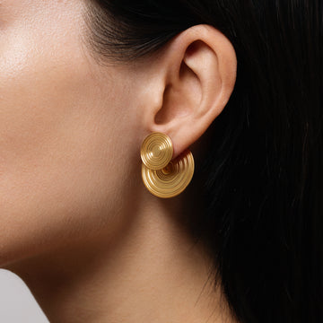 DOUBLE SIDED EARRINGS ORBIT