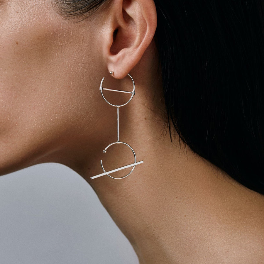 O1O1 earrings in sterling silver