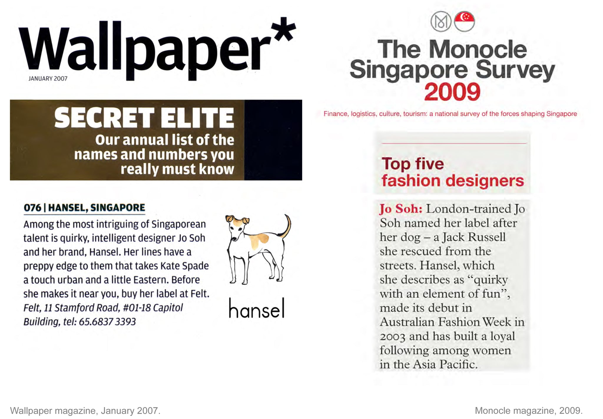 hansel Jo Soh press Singapore fashion designer
