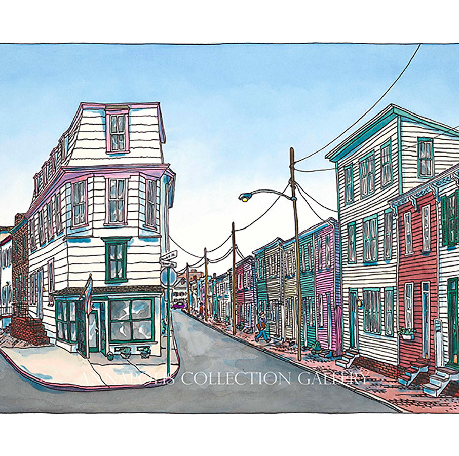 Cornhill and Fleet Streets, Historic Annapolis, Maryland