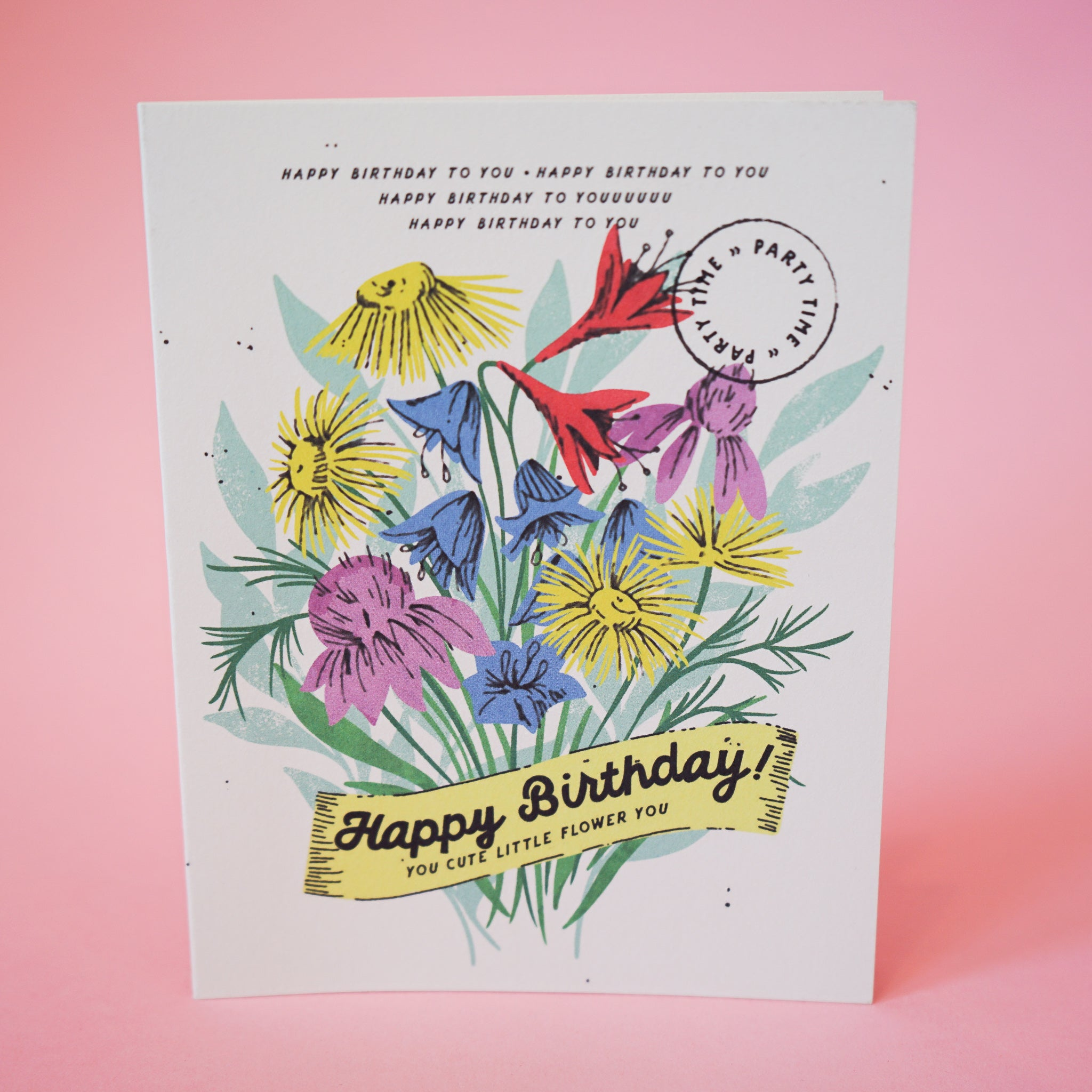 Cute Little Flower Birthday Card