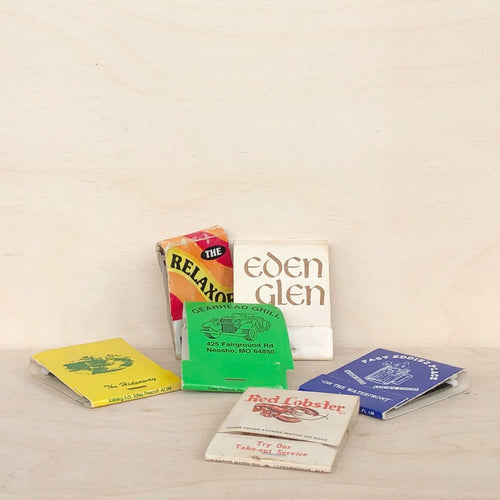 Vintage Matchbook 6 Pack