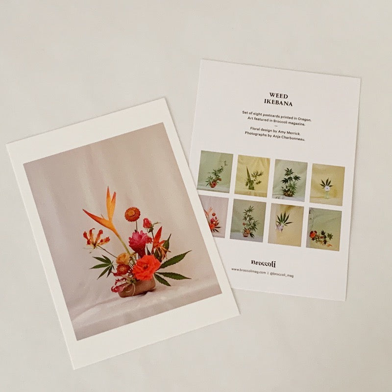 Broccoli Magazine - Weed Ikebana Postcard Set