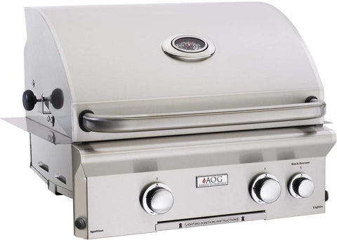 """American Outdoor Grill 24NBL Built-in 24"""" 2 Burner Gas Grill"""