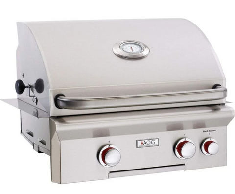 """American Outdoor Grill 24NBT Built-in 24"""" 2 Burner Gas Grill"""