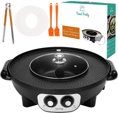 Food Party 2 in 1 Grill and Hot Pot