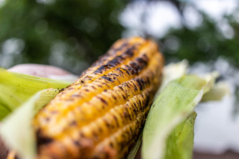 Grilled Corn with skin