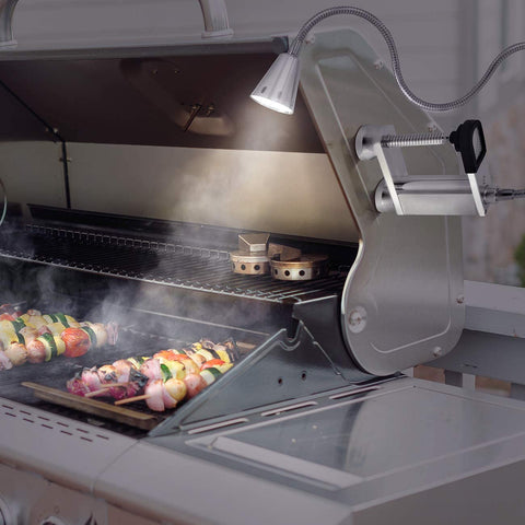 LED Concepts BBQ Grill Lights used while grilling