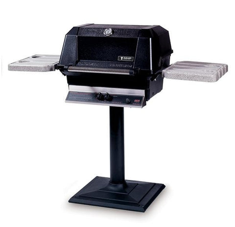 MHP WNK4 Gas Grill on Deck or Patio Base with Side Shelves