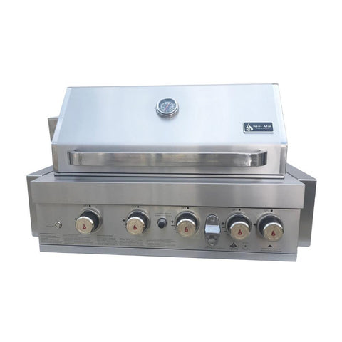 Mont Alpi MABI400 32 Stainless Steel Built In Gas Grill w LED Lights