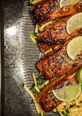 Served Grilled Salmon