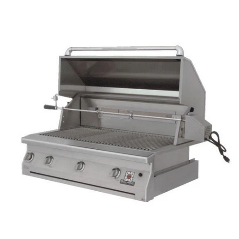 "Solaire 42"" Built-In Infrared Gas Grill with Rotisserie"
