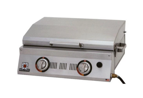 "Solaire SOL-AA23A-LP All About 26"" Stainless Steel Tabletop Double Burner Gas Grill"