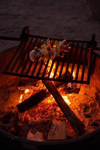 barbecue on grill