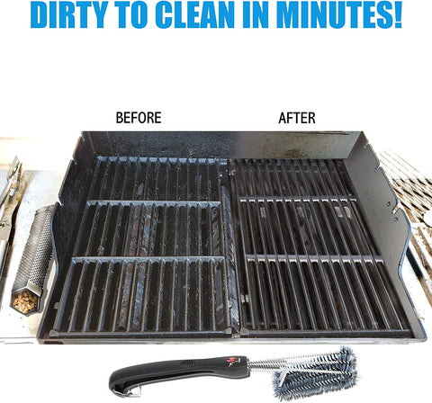 dirty and clean grill