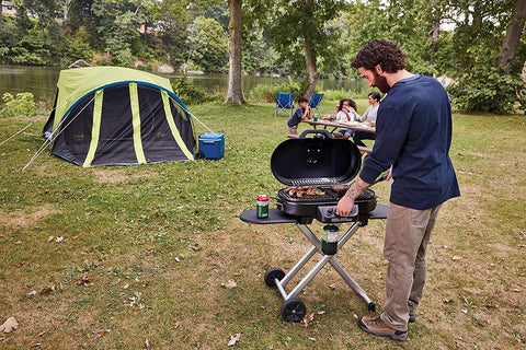 grilling while camping