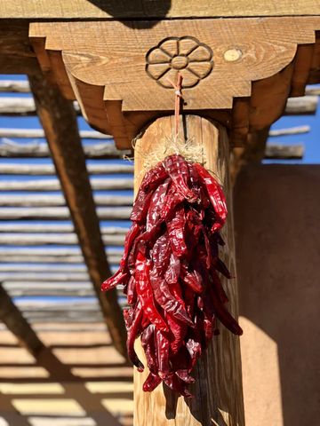 Chile Ristras are a tradition in New Mexico, and can flavor any outdoor meal.