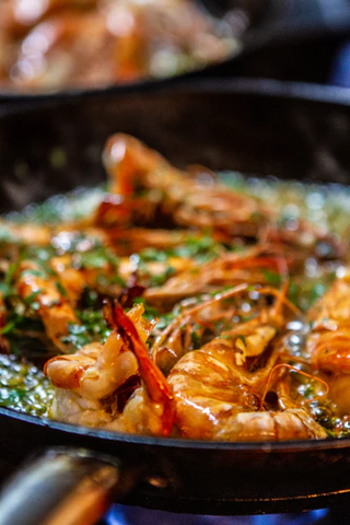 Shrimp are probably one of the fastest and most versatile seafoods for outdoor cooking.