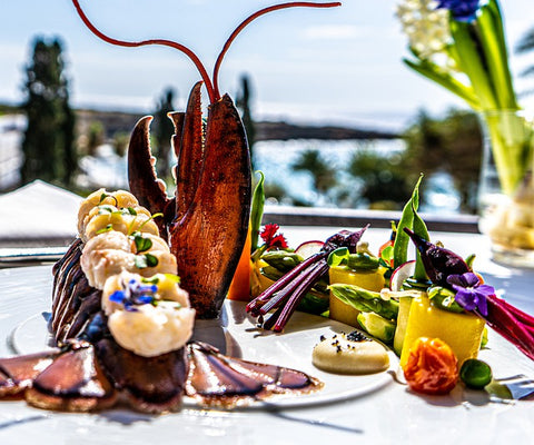 lobster meal in the daytime