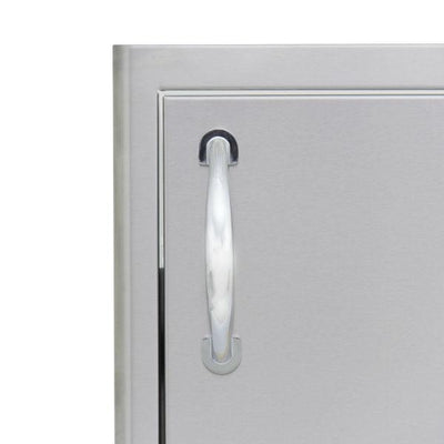 "Blaze 18"" Stainless Steel Vertical Single Access Door Right Hand Hinged BLZ-SV 1420-R"