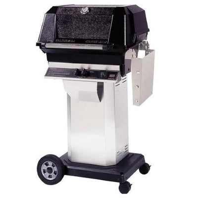 MHP JNR4 Stainless Steel Gas Grill on Stainless Steel Cart w/ Stainless Steel Grids
