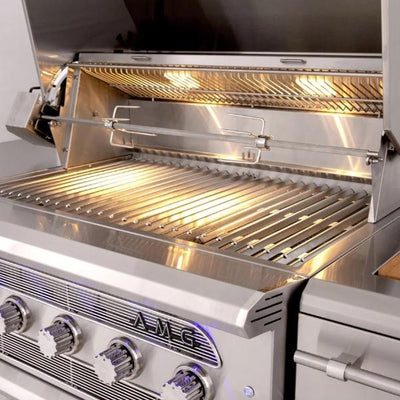 "American Muscle Grill AMG54 54"" Stainless Steel 8 Burner Freestanding Gas Grill"