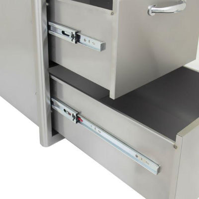 "Blaze 16"" Stainless Steel Double Access Outdoor Kitchen Drawer BLZ-DRW2-R"