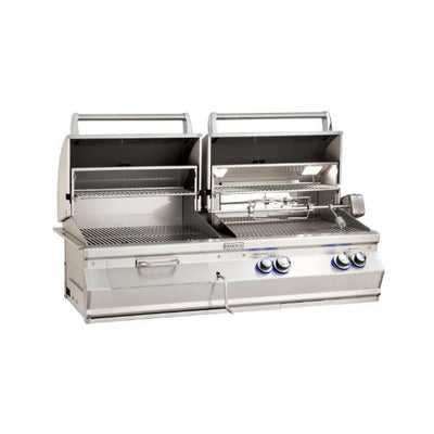 "Fire Magic Aurora A830I 46"" Stainless Steel Built-In Gas & Charcoal Grill w/ Rotisserie"