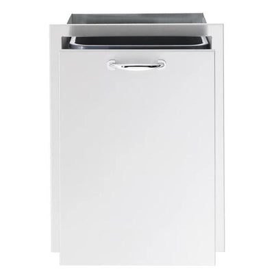 "Summerset SSTD1-20 20"" Stainless Steel Trash Pullout Drawer w/ 10 Gallon Trash Bin"