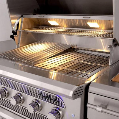 "American Muscle Grill AMG54 54"" Stainless Steel 8 Burner Built-In Gas Grill w/ Cover"