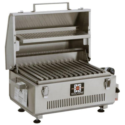 "Solaire SOL-IR17BWR Anywhere 21"" Stainless Steel Portable Propane Infrared Grill w/ Warming Rack"