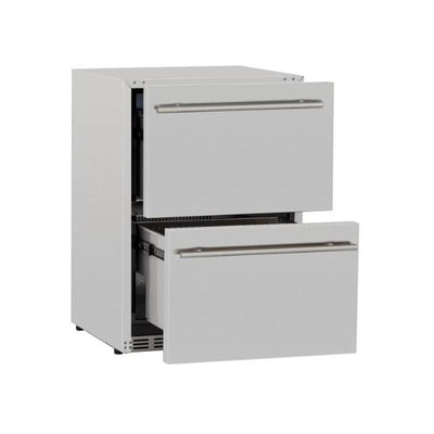 "Summerset SSRFR-24DR2 24"" Stainless Steel 5.3c Outdoor Rated 2-Drawer Refrigerator"