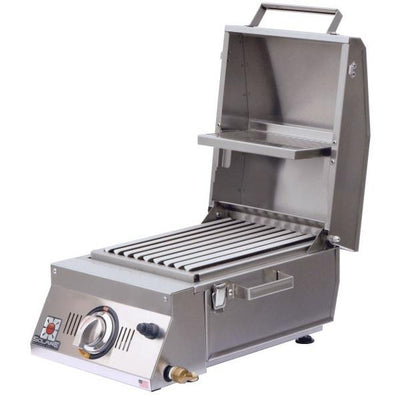 "Solaire SOL-AA12A-LP All About 15"" Stainless Steel Single Burner Infrared Gas Grill"