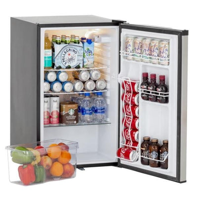 "Summerset SSRFR-21S 20"" Stainless Steel 4.5 Cube UL Outdoor Compact Refrigerator"
