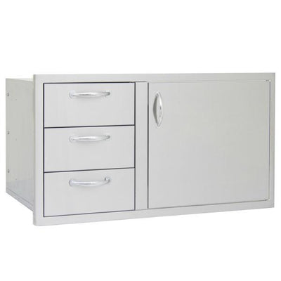 "Blaze 39"" Stainless Steel Access Door & Triple Drawer Combo BLZ-DDC-39-R"