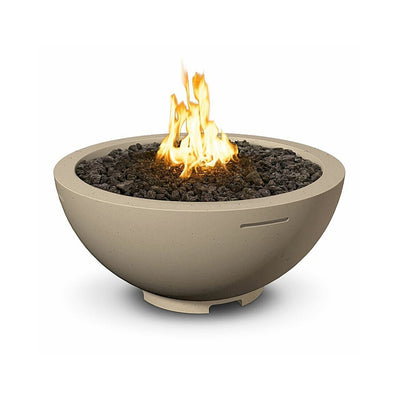 "American Fyre Designs 733-M6 Round 32"" Cafe Blanco Fire Bowl"