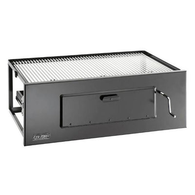 "Fire Magic 32"" Black Lift-A-Fire Built-In Charcoal Grills 3334"