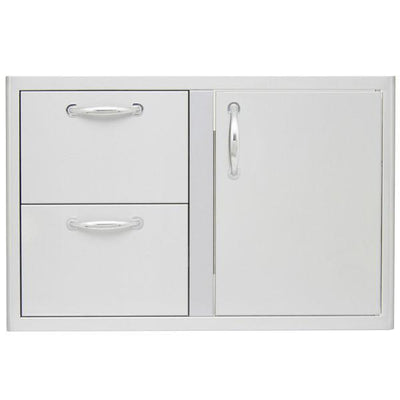 "Blaze 32"" Stainless Steel Outdoor Access Door & Double Drawer Combo BLZ-DDC-R"