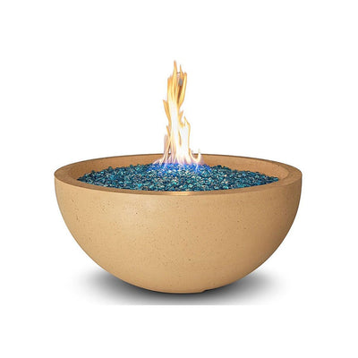 "American Fyre Designs 732-F6 Round 36"" Cafe Blanco Fire Bowl"