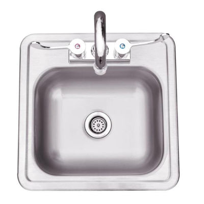 "Summerset SSNK-15D 15"" Stainless Steel Drop-in Sink w/ Faucet"