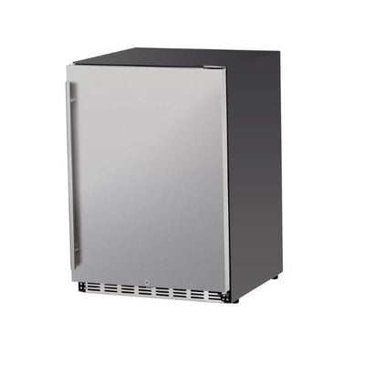 "Summerset SSRFR-24S 24"" Stainless Steel 5.3c Outdoor Rated Refrigerator"