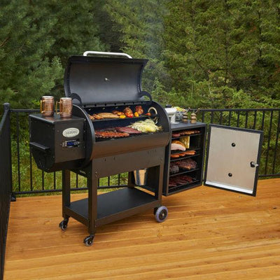 "Louisiana Grills LG900C1 66"" Black Wood Pellet Grill and Smoker"