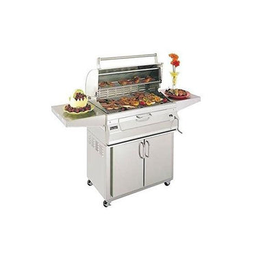 Fire Magic 30″ Stainless Steel Freestanding Charcoal Grill w/ Warming Rack 24-SC01C-61