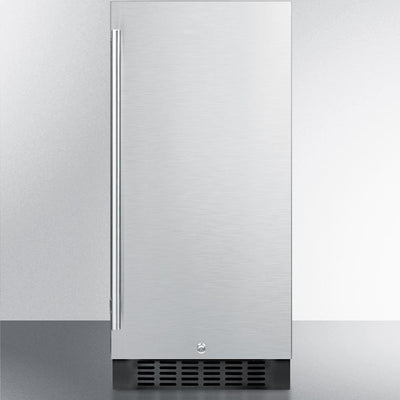 "Summit SPR316OS 15"" Outdoor Refrigerator with Stainless Steel Door"