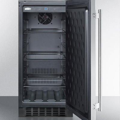 "Summit SPR316OSCSS 15"" Wide Outdoor Refrigerator in Stainless Steel"